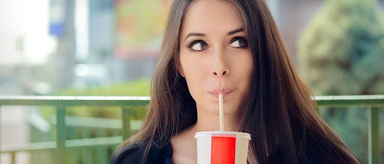 girl drinking soda